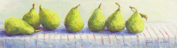 Pears With Striped Cloth
